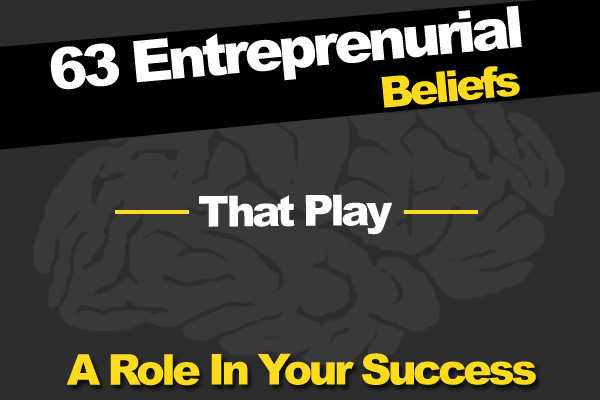 63 Entrepreneurial Beliefs That Play A Role In Your Success